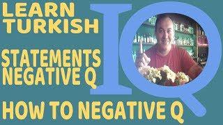 Turkish Grammar Negative Question Degil how to