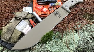 ESEE Junglas + Survival Kit from SOL: Survival Situation - STAY ALIVE in the Rain and Cold of NH