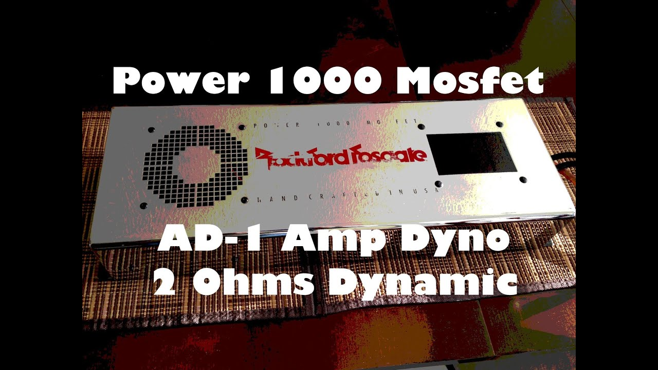 Old School Rockford Fosgate Power 1000c Mosfet Repaired Manual Guide