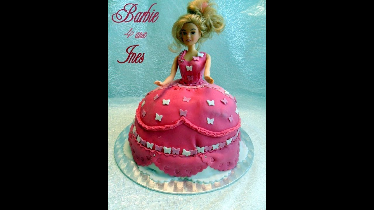 gateau d 39 anniversaire princesse barbie amour de cuisine youtube. Black Bedroom Furniture Sets. Home Design Ideas