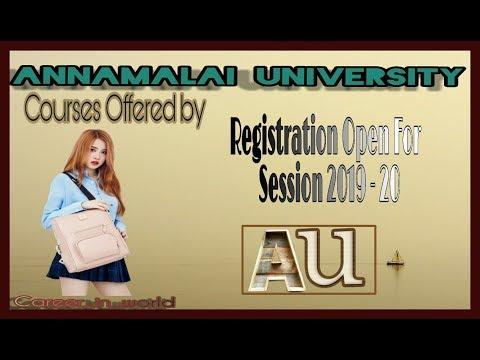 Annamalai University Admission 2019: Dates, Courses, Distance ...