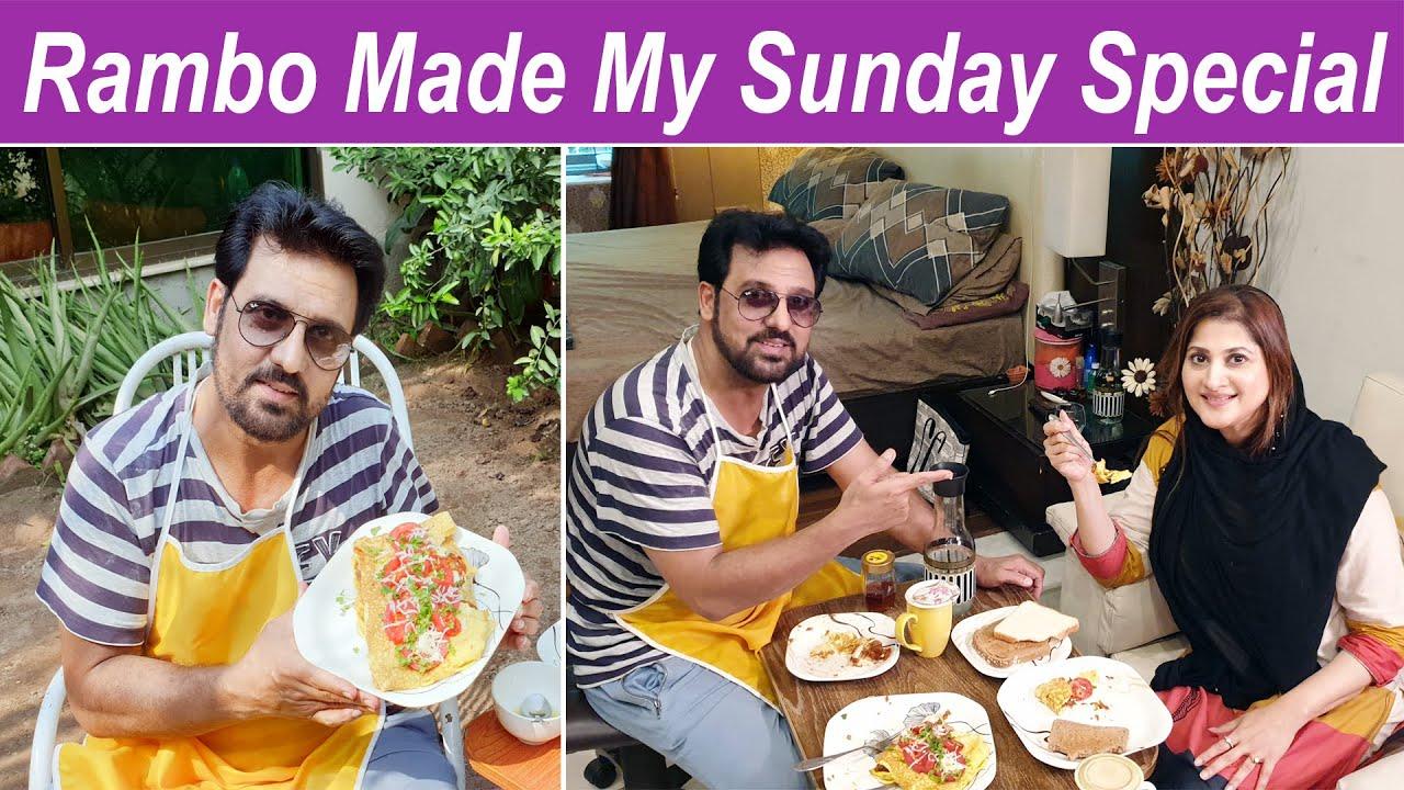 Rambo made my Sunday specia | Rambo Sahiba breakfast | jan rambo show | lifestyle with sahiba