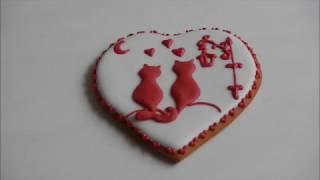 Мастер класс по украшению пряника ко Дню Валентина /How to decorate cookie to St Valentine Day