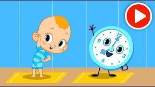 Привет, малыш! Развивающий мультфильм с караоке ⏰ Про часы - Тики-так!