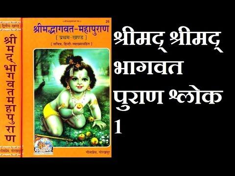 Shrimad Bhagwat puran Shalok 1 in hindi and sanskrit !! श्रीमद भागवत पुराण श्लोक 1 !!