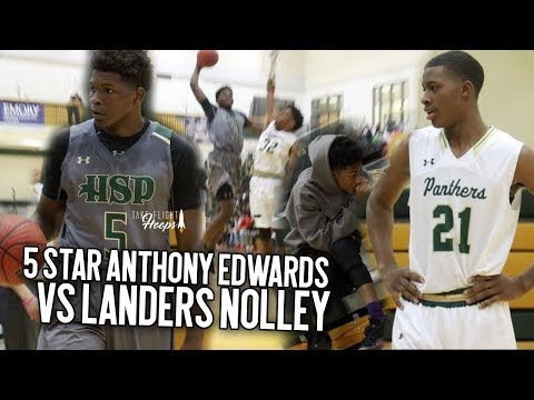 5 Star Sophomore Anthony Edwards Catches A BODY & Virginia Tech Bound Landers Nolley Drops 40!!