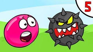 Несносный КРАСНЫЙ ШАРИК против чёрного квадрата и злого шара #5. Мультфильм Red Pink Ball Игрули TV