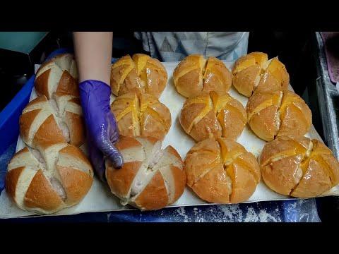 韓國爆乳香蒜麵包,羅馬香草脆皮豬肉捲/台灣街頭美食
