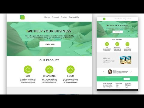 Web Template Design In Photoshop Step By Step || UI Design Tutorial || EP-17