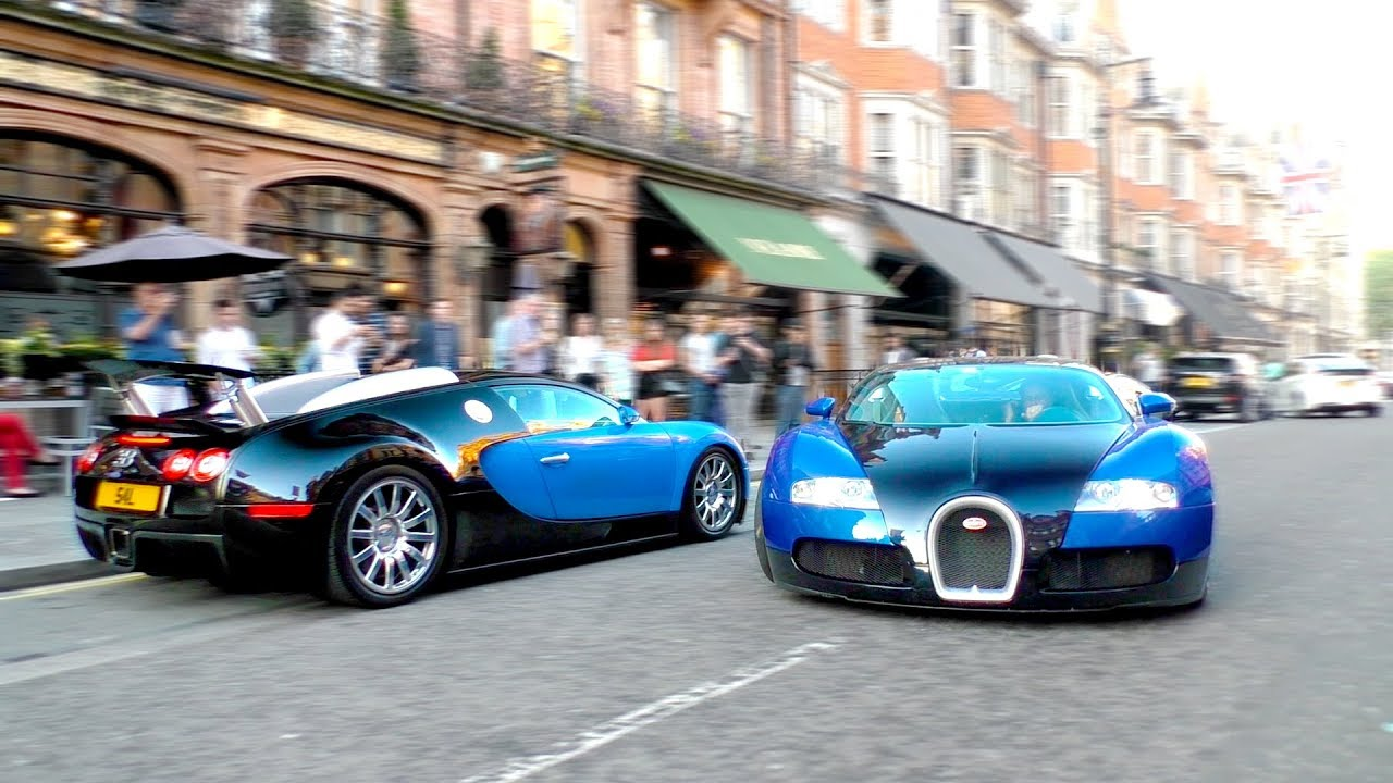 When you bring your $1.5Million BUGATTI VEYRON to a bar and someone else has the same idea!