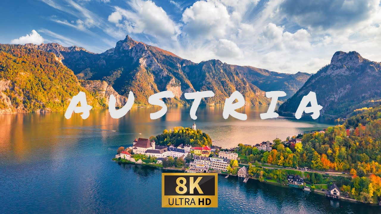 8K Drone Footage - Travel to Best Places in AUSTRIA With Calming Piano Music.