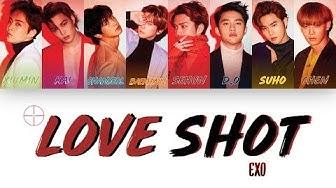 """[1 시간 / 1 HOUR LOOP] EXO 엑소 """"Love Shot"""" - Color Coded Lyrics"""