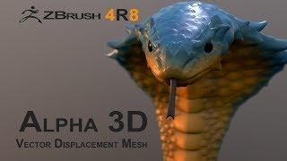 Z Brush 4R8: Alpha 3D and VDM