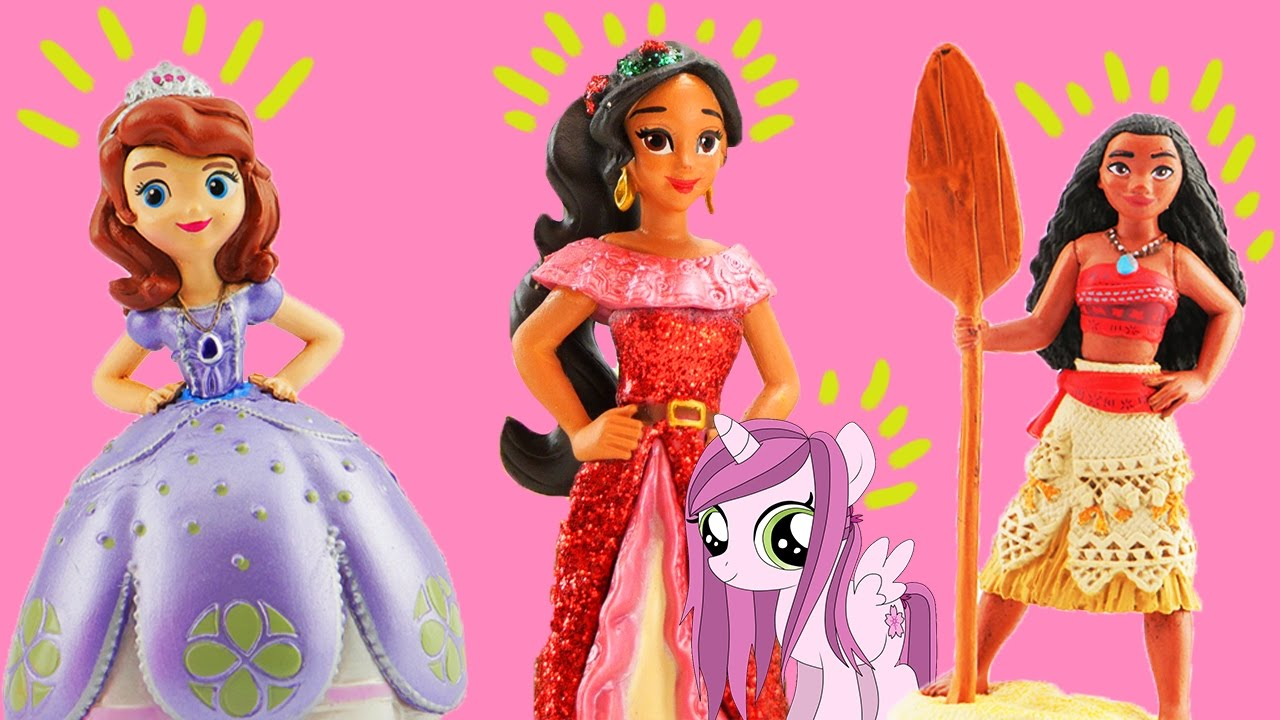 Disney princess moana meets elena of avalor they visit - Princesse sofia et ariel ...