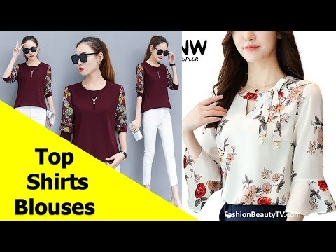 Top 50 Beautiful Shirt and Blouse Designs For Ladies S9