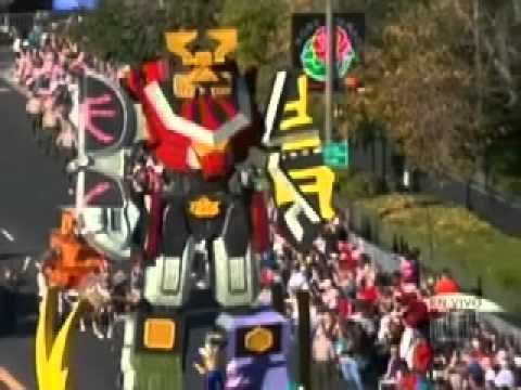 Power rangers samurai rose bowl parade spanish youtube - Power ranger samurai rose ...