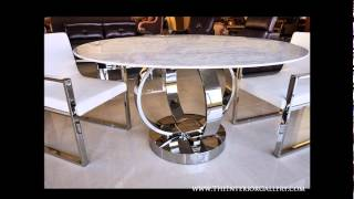 Modern Luxury Round Dining Table - White Marble - Cerchio