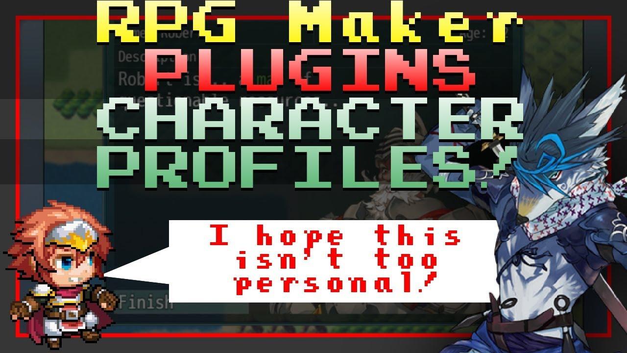 RPG Maker MV Plugin - Character Profiles!