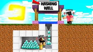 I Made a FAKE WISHING WELL To Get DIAMONDS From Minecraft Friends!