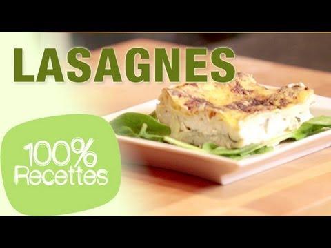 100%-recettes---lasagnes-chèvre-épinard