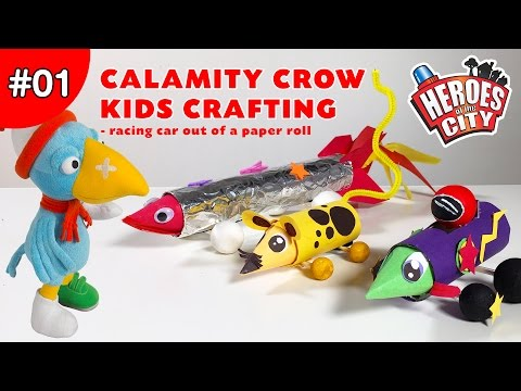 calamity-crow-kids-crafting-show-ep01---build-a-fast-and-fun-racing-car-out-of-a-paper-roll.