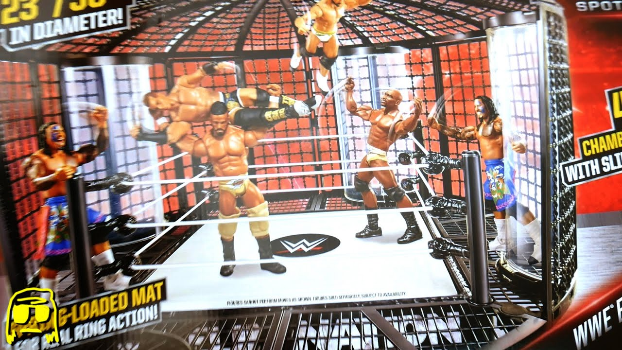 Toys R Us Wwe Rings : Wwe elimination chamber playset ring toys r us exclusive