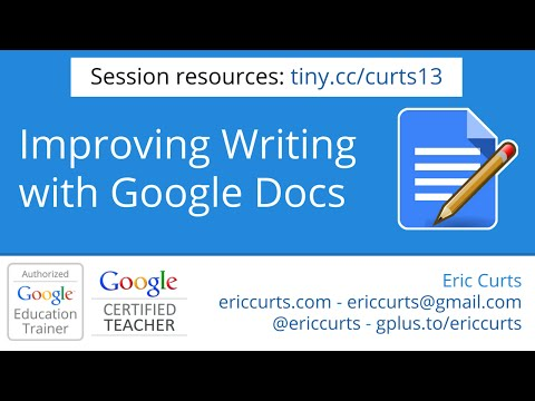 Improving the writing process with Google Docs