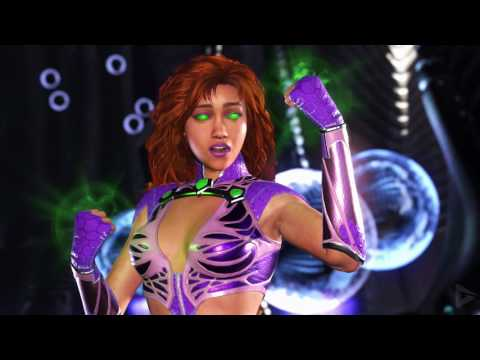 INJUSTICE 2: All STARFIRE Intros (Dialogue & Character Banter) 1080p HD