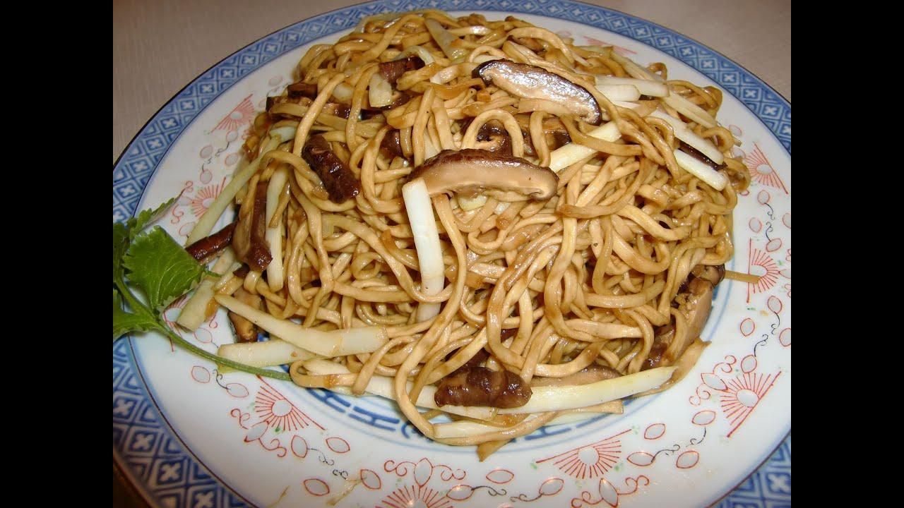 yie mien ( e-fu noodles, Longevity noodles ), 干燒伊麵 - YouTube