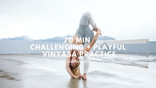 An All-Levels, but Challenging Vinyasa Yoga Practice (including a short meditation + sweaty flow!)