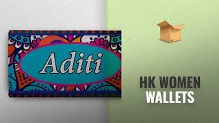 Top 10 Hk Women Wallets [2018 Best Sellers]: HK Multicolor Name Printed Designer Ladies wallet