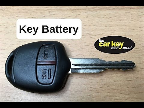 Key Battery Mitsubishi How To Change Youtube