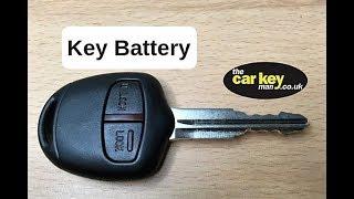 Key Battery Mitsubishi  HOW TO change