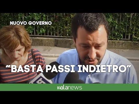 """Salvini: """"Stasera darò i nomi dei ministri a Conte. Basta passi indietro"""""""
