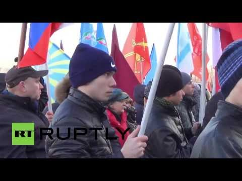 Russia: Thousands rally for Crimea in Kazan