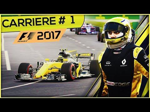 F1 2017 (FR) - Mode Carrière #1 - Le Rookie!