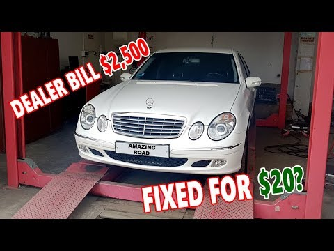 I Fixed A $2,500 Problem On My Mercedes W211 For $20?