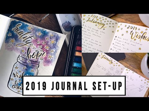 JANUARY 2019 CREATIVE MINDS JOURNAL SET-UP | ANN LE