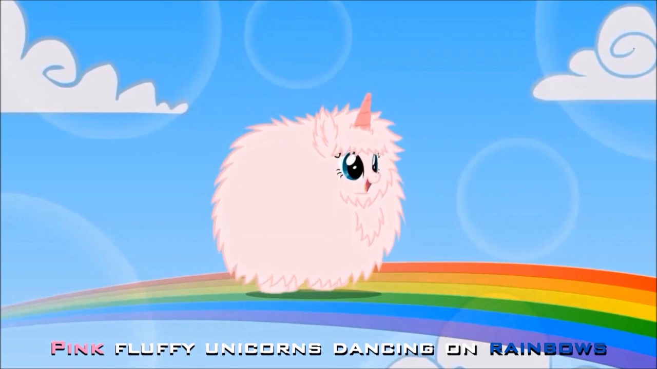 Pink Fluffy Unicorns Dancing on Rainbows - YouTube