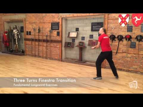 Three Turns Finestra Transitions - Longsword Exercises