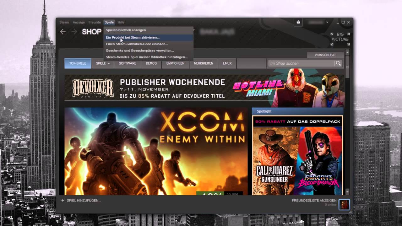 Steam Key aktivieren MMOGA Tutorial