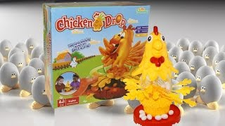Chicken Drop Strategy Game Fun Plunking the Feathers and Releasing the Eggs