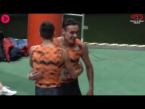 Indoor Track & Field Vienna 2021 - 1500m Männer Lauf 1/2 - Istvan Szögi 3:37,55 NR & WL