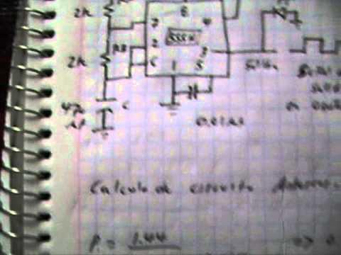 Circuito Oscilador 555 : Circuito oscilador con integrado timer youtube