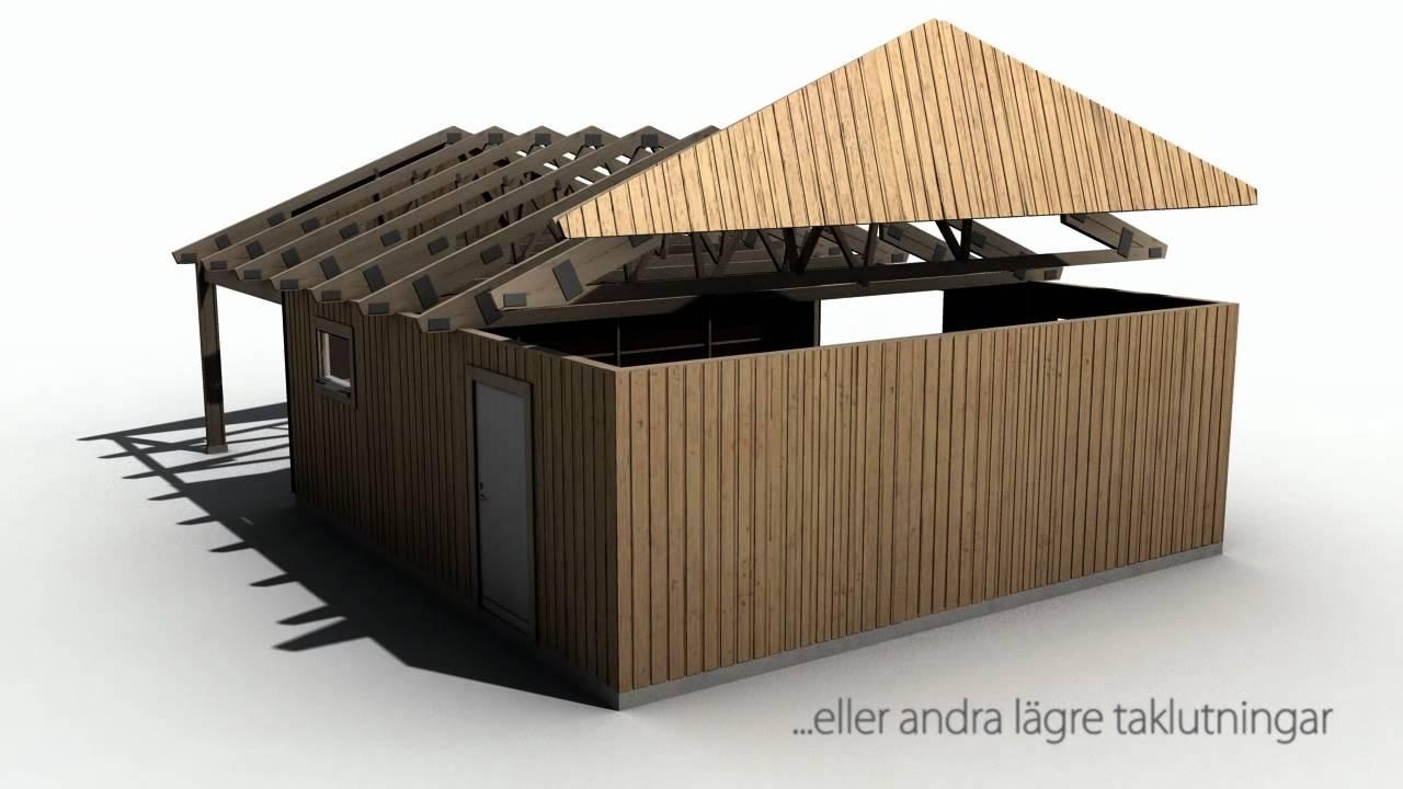 Byggsatser för garage, carports, fritidshus med mera - YouTube