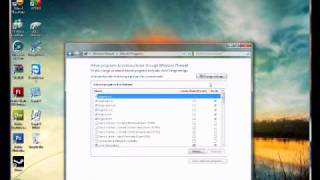 how to allow a port number through windows 7 firewall