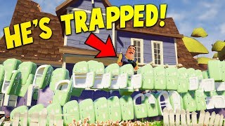 BUILDING A WALL OF REFRIGERATORS AROUND THE NEIGHBORS HOUSE!? | Hello Neighbor Gameplay