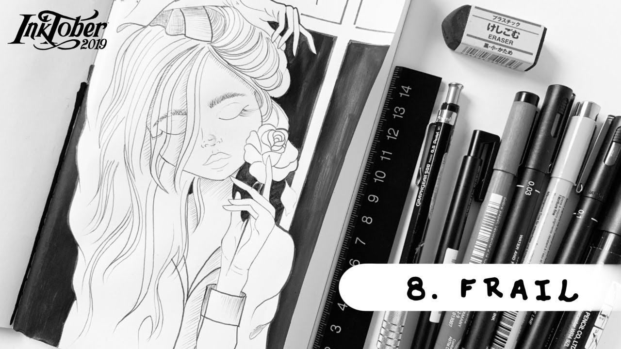 Inktober 2019 , Day 8 , FRAIL , Illustration