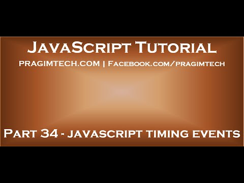 JavaScript timing events