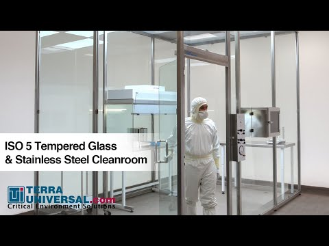 ISO 5 Tempered Glass & Stainless Steel Cleanroom